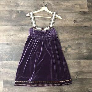 Free People Velvet Boho Dress Small